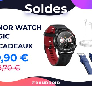 Honor Watch Magic : une montre soldée à 79 €, avec deux cadeaux en bonus