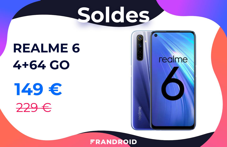 Le Realme 6 avec son écran 90 Hz chute à seulement 149 € pour les soldes