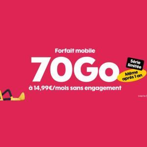 Pour ce début de nouvelle année, Sosh lance un nouveau forfait 70 Go à 15 €