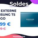 Le très bon SSD externe Samsung T5 de 500 Go est soldé à -33 %