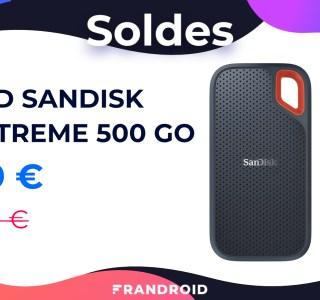 Ce SSD NVMe portable ultra compact de 500 Go en solde est très pratique