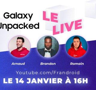 Suivez la conférence Galaxy Unpacked commentée par deux grands youtubeurs tech français