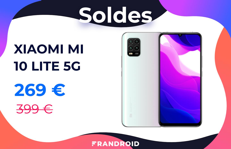 Le Xiaomi Mi 10 Lite compatible 5G est de retour à 269 € pour les soldes