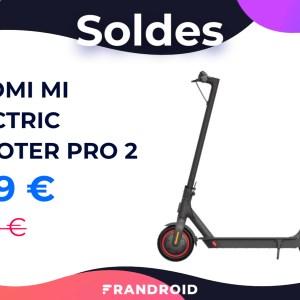 La trottinette Xiaomi Mi Electric Scooter Pro 2 coûte 100 € de moins pour les soldes