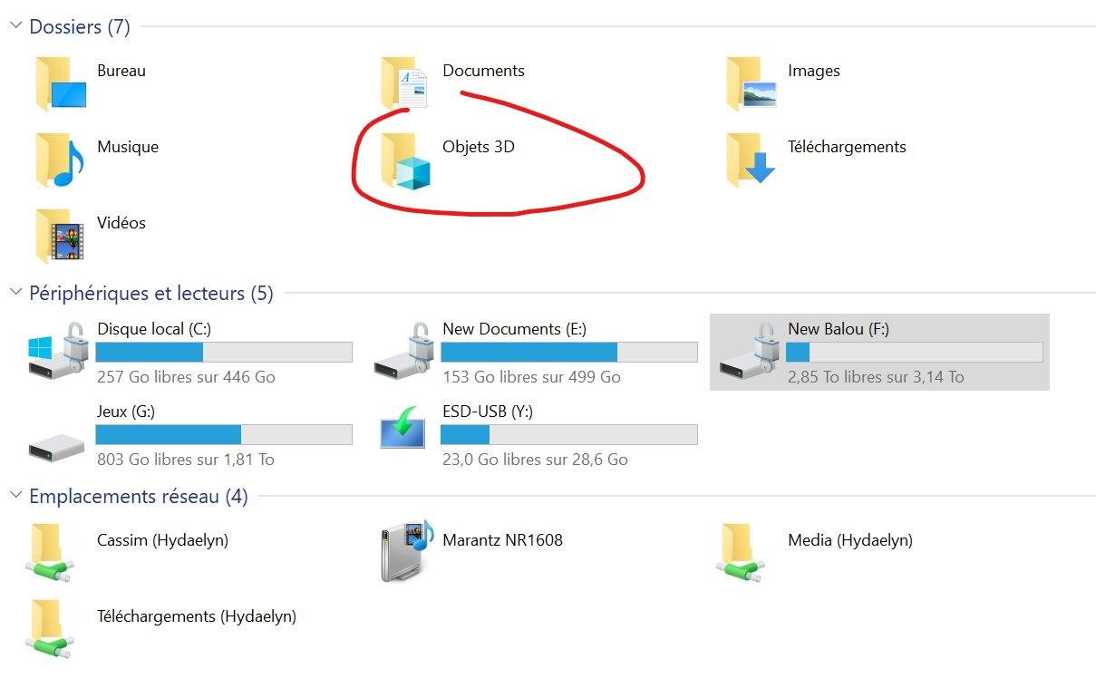 Windows 10 : l'inutile dossier « Objets 3D » va bientôt disparaitre de l'explorateur
