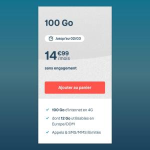 Ce forfait mobile B&You de 100 Go ne coûte que 14,99 euros, et sans engagement