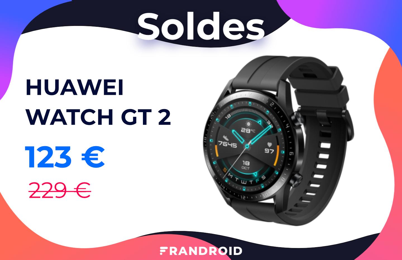 La Huawei Watch GT 2 (46 mm) est en solde à 123 € sur le site officiel