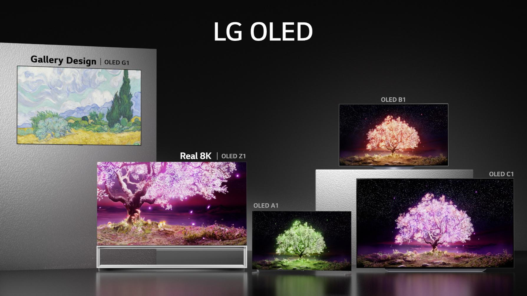 LG OLED Z1, G1, C1 et B1: voici les tarifs conseillés entre 1 800 et 30 000euros