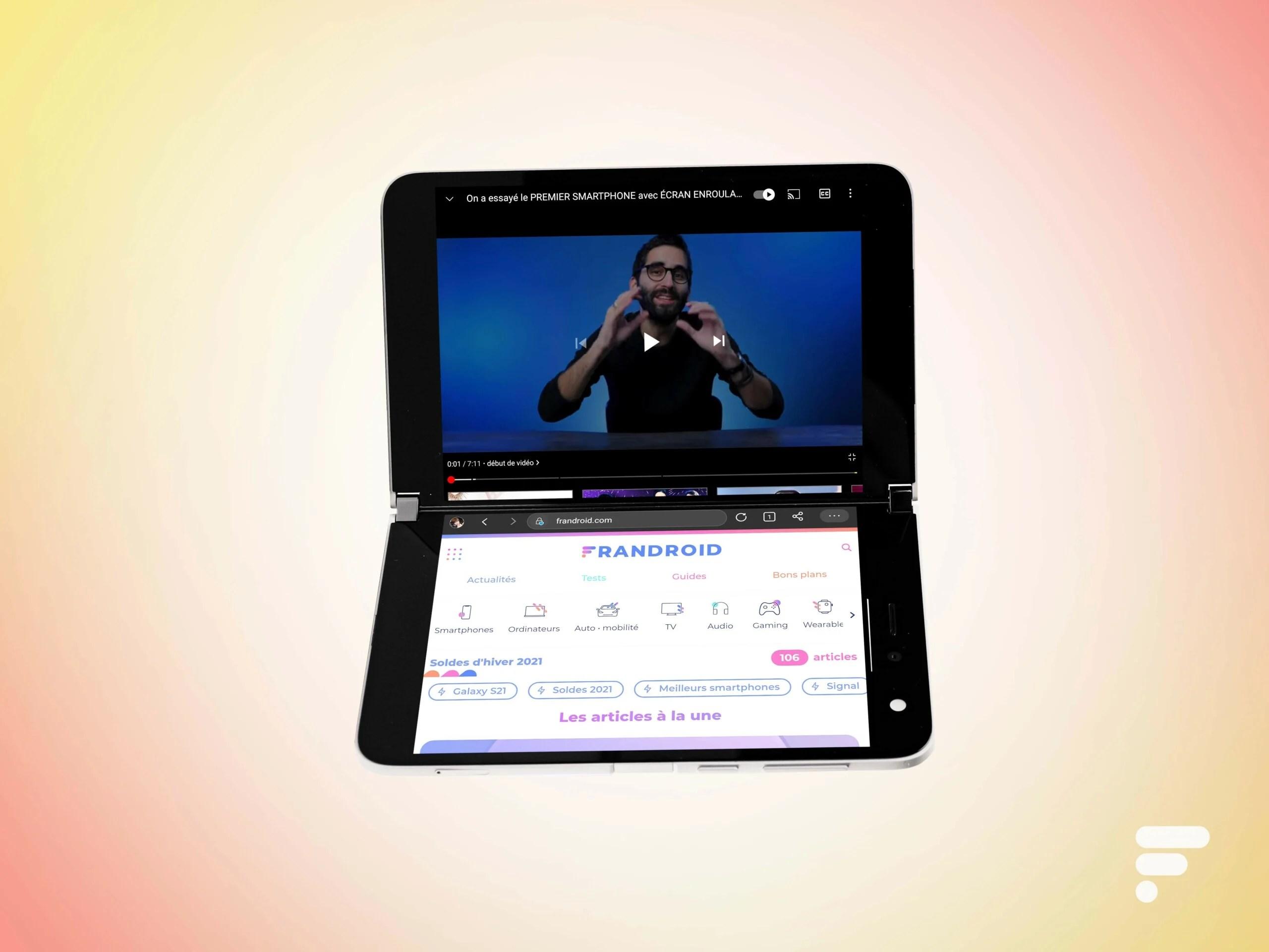 Surface Duo : Microsoft teste le double écran pour le Xbox Game Pass