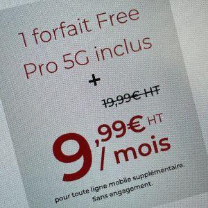 En plus de sa box professionnelle, Free lance un forfait Free Pro 5G