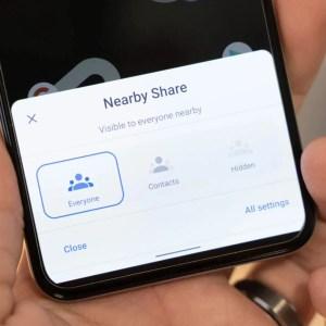 Nearby Share : prochainement une option de partage de groupe