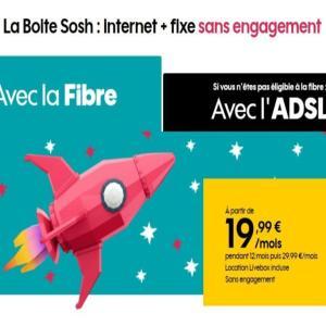Sosh : l'offre Fibre optique est de retour à seulement 19,99 € par mois