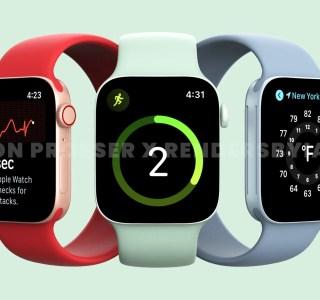Apple Watch Series 7 : des rendus montrent un tout nouveau design