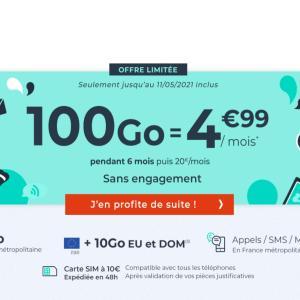 De la 4G à prix (très) abordable avec ce forfait mobile 100 Go à 5 €/mois