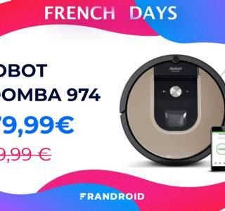iRobot Roomba 974 : un excellent robot aspirateur à -24% pour les French Days