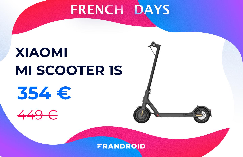 La trottinette Xiaomi Mi Electric Scooter 1S coûte presque 100 € de moins