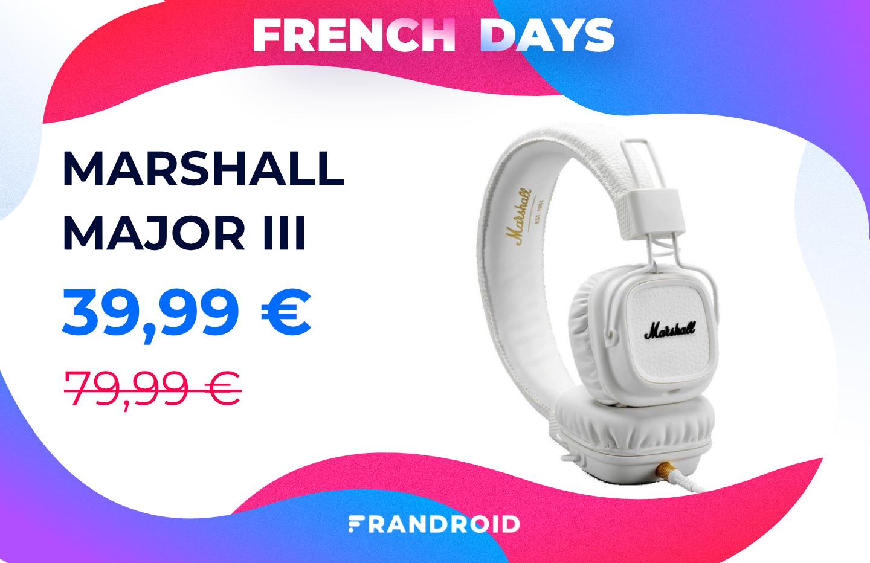 French Days : le moins cher des casques Marshall est en promo à -50 %