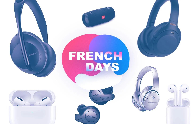 Notre sélection casques, enceintes et écouteurs en promotion pour les French Days