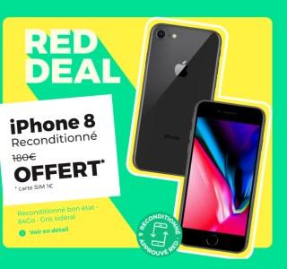 Vous avez jusqu'à ce soir pour obtenir un iPhone 8 reconditionné gratuit avec ce forfait mobile RED
