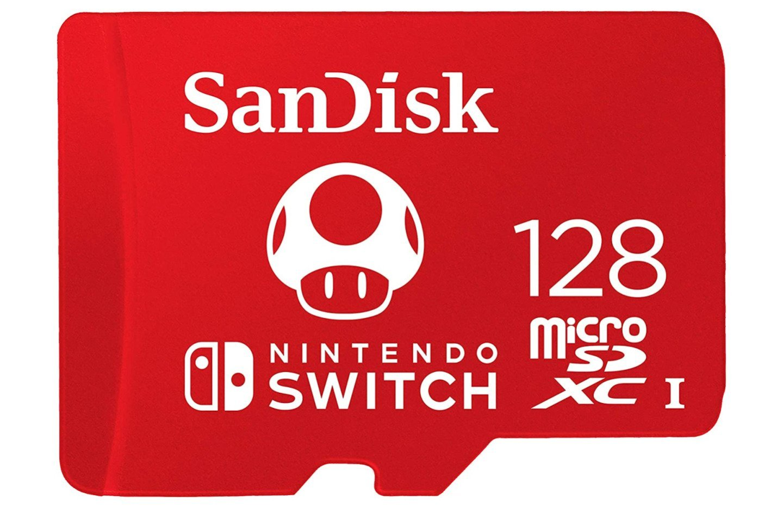 La microSD 128 Go aux couleurs de Nintendo ne coute pas plus chère qu'une microSD classique