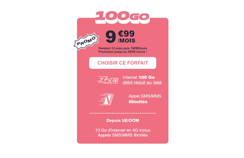 Ce forfait mobile 150 Go ne coûte que 7,99 euros, mais seulement jusqu'à mardi