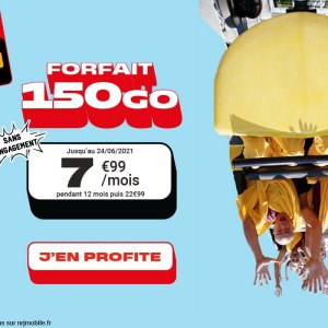 Ce forfait mobile 150 Go ne coûte que 7,99 euros, mais seulement aujourd'hui