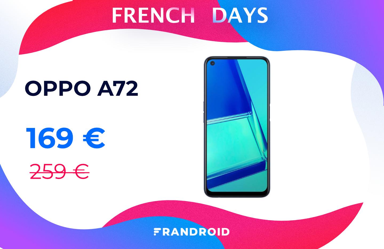 Le Oppo A72 chute à seulement 169 € durant les French Days de Cdiscount