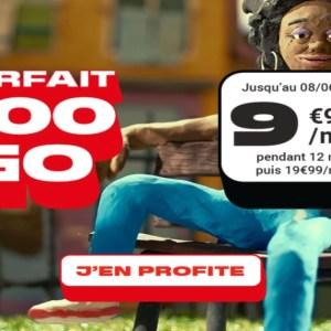 100 Go pour 9,99 euros par mois, c'est ce que propose ce forfait chez NRJ Mobile