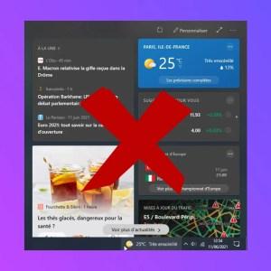 Windows 10 : comment supprimer le widget météo de la barre de tâches