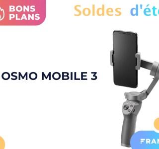 Le stabilisateur DJI Osmo Mobile 3 est moins cher grâce à un code promo