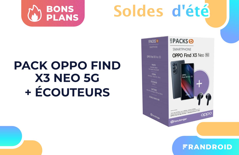 Soldes 2021 : 100 € de réduction et des true wireless offerts pour le Oppo Find X3 Neo