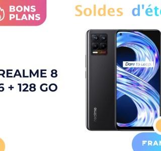 Seulement 179 euros, c'est le prix du récent Realme 8 (6+128 Go) pendant les soldes
