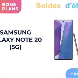 Le Samsung Galaxy Note 20 compatible 5G chute à 599 euros chez Boulanger