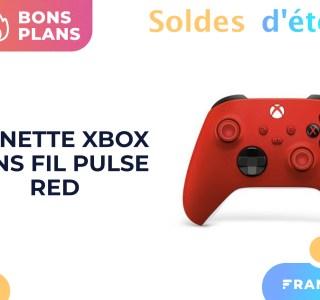 Le nouveau coloris Pulse Red de la manette Xbox est en solde