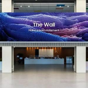 The Wall : l'écran MicroLED géant de Samsung progresse de partout