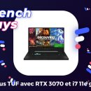 Ce PC portable gaming (i7 + RTX 3070) perd 560 € de son prix pendant les French Days