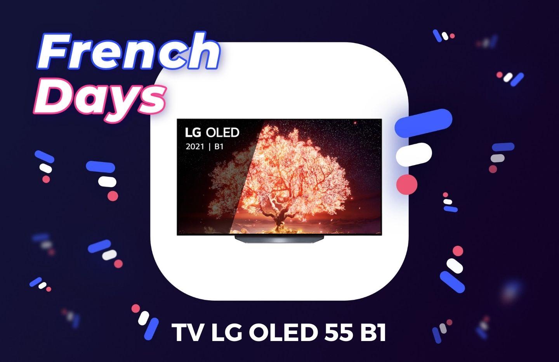 La LG 55 pouces de la gamme B1 2021 est la plus abordable des TV OLED pour les French Days