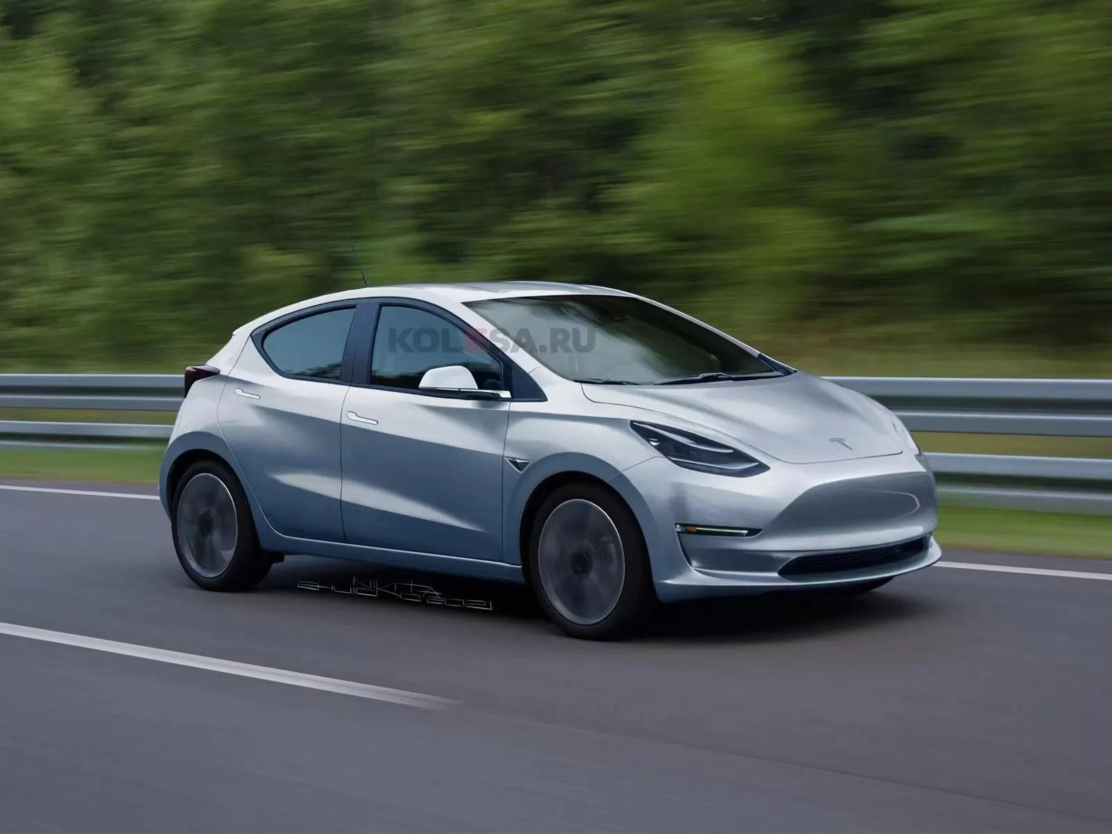 Tesla Model 2 / Q : de nouveaux rendus dévoilent une conception relativement ennuyeuse et conservatrice