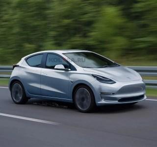 Tesla Model2 / Q: de nouveaux rendus dévoilent une conception relativement ennuyeuse et conservatrice