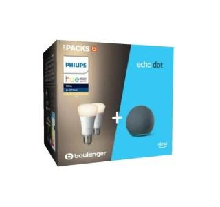 L'Echo Dot 4 devient plus intéressante dans ce pack Philips Hue à -46 %
