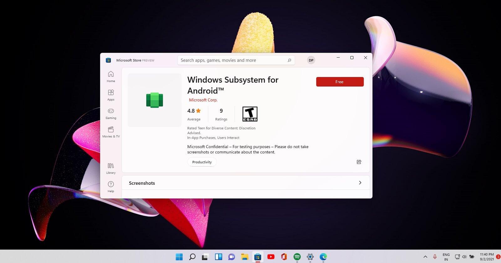 Windows 11 : vous devriez pouvoir ouvrir plusieurs onglets d'une même app Android