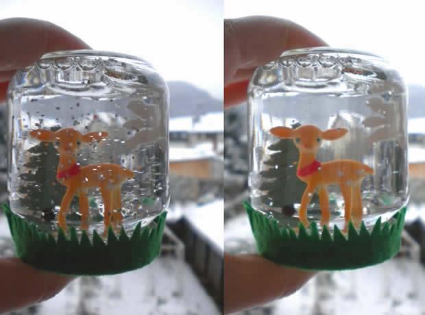 Une boule à neige faite maison, le tuto déco !