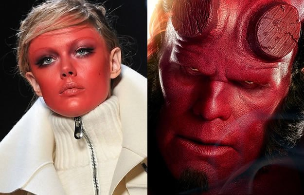 maquillage viktor rolf fashion week