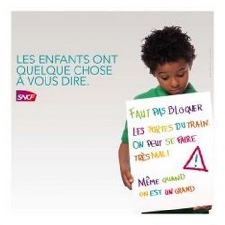 La SNCF utilise des voix d'enfants pour faire la morale aux usagers