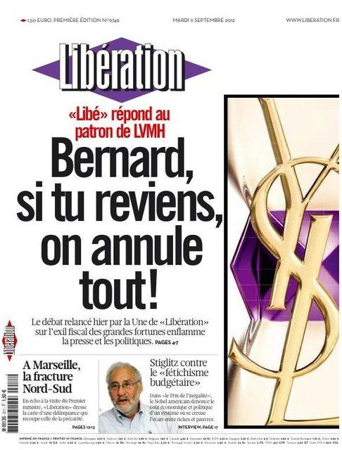 Libération, Bernard Arnault et la satire