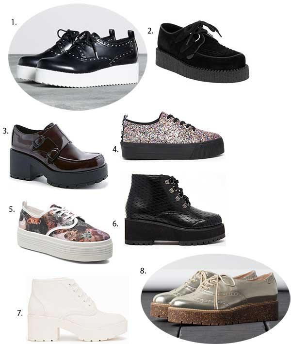 chaussures à plateformes