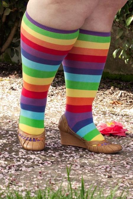 chaussettes à rayures