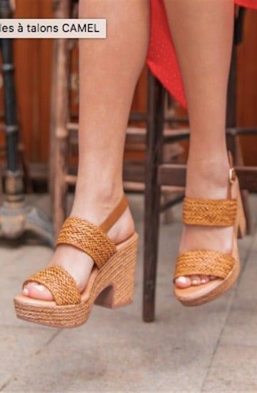 Chaussures compensées en corde, Pretty Wire, 29,90€
