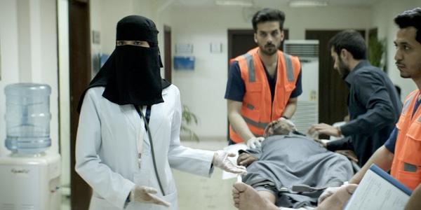 Mila Alzahrani (Maryam) dans The Perfect Candidate (Copyright Razor Film)