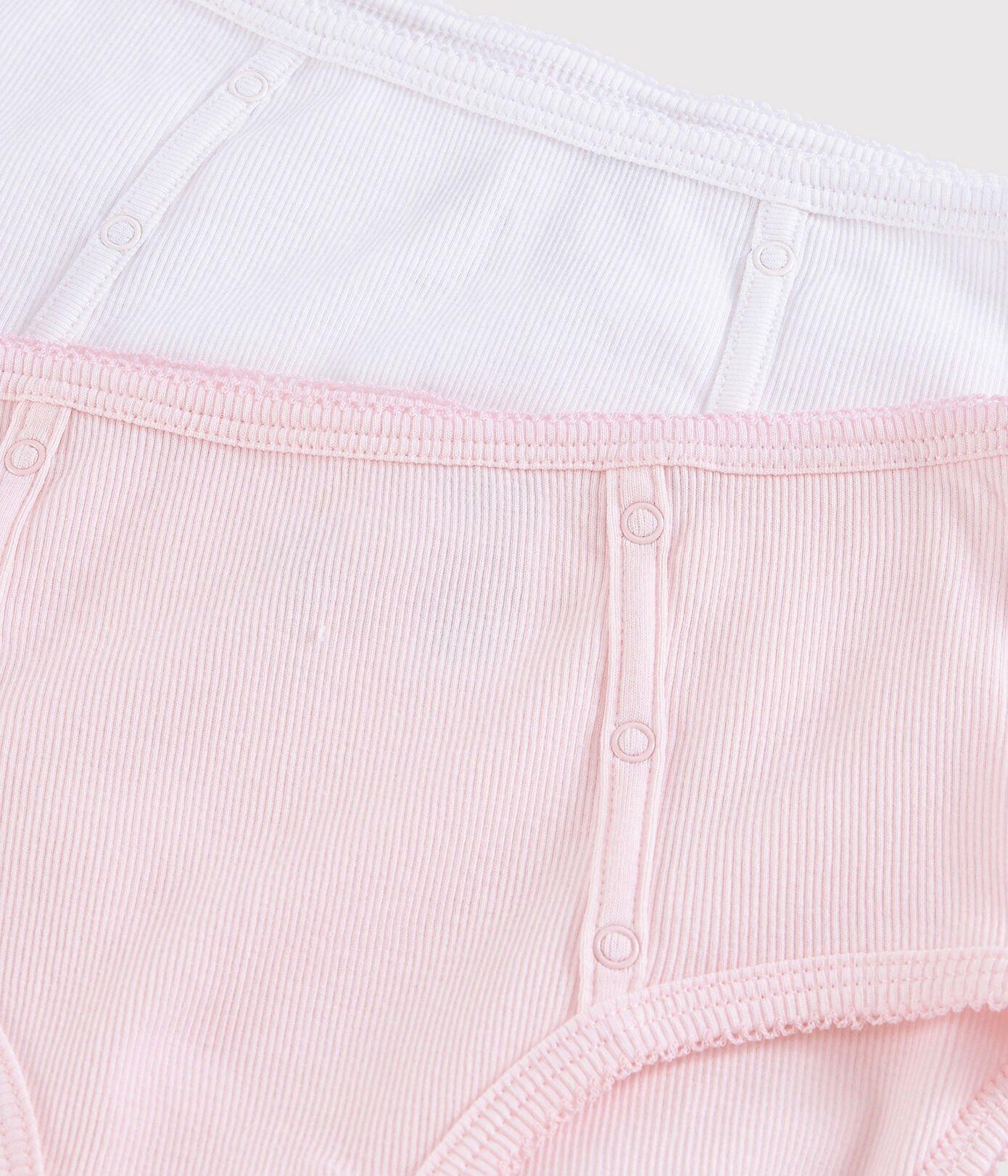 Lot de deux culottes en coton léger, taille haute, avec pressions décoratives esprit Vintage, Petit Bateau, 29,90€.
